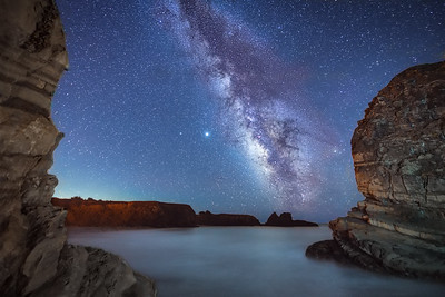 Cooks Beach Cove & Milky Way, Gualala, California
