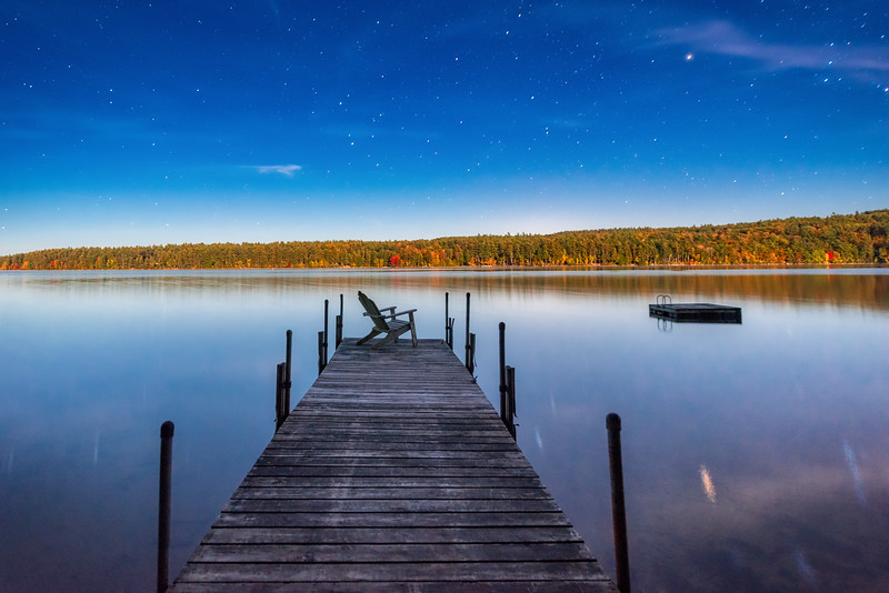 Night on Moose Pond, Maine