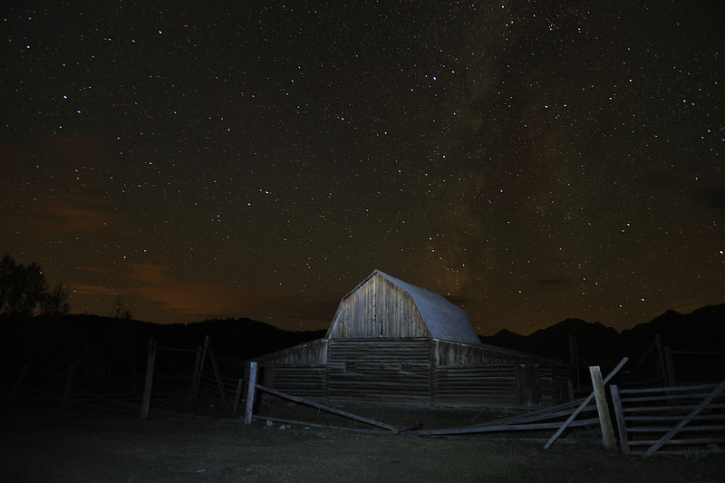 Mormon Barn at Night with the Milky Way, Grand Teton National Park, Wyoming