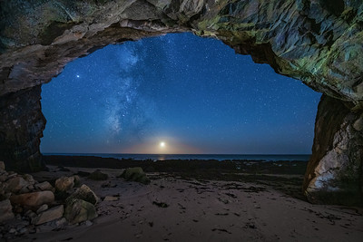 Schooner Beach Sea Cave & Milky Way, Study 6