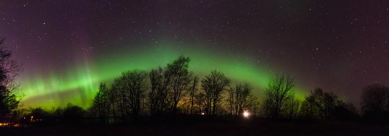 Northern Lights in Estonia on 8 April 2016