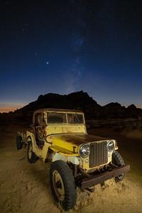 Willys Jeep at Keys Ranch, Joshua Tree National Park