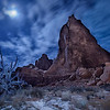 Moonlight in Arches National Park, Moab, Utah