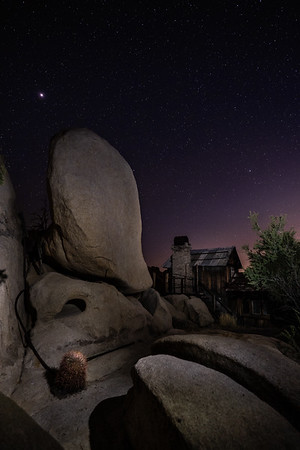 Keys Ranch at night, Joshua Tree National Park