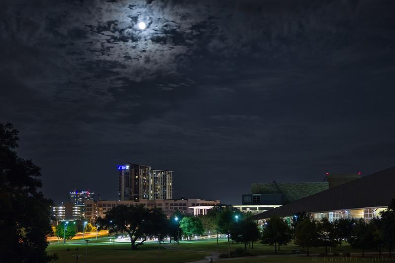 Full Moon Over Austin