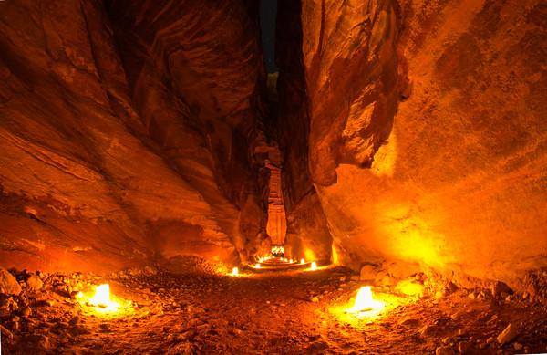 Siq View in Petra, Jordan