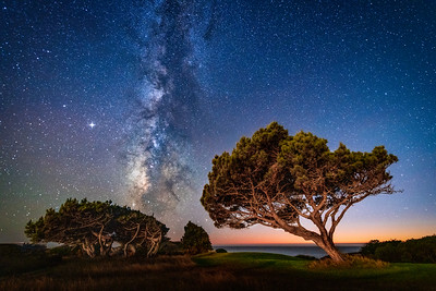Afterglow & Milky Way, Sea Ranch, California
