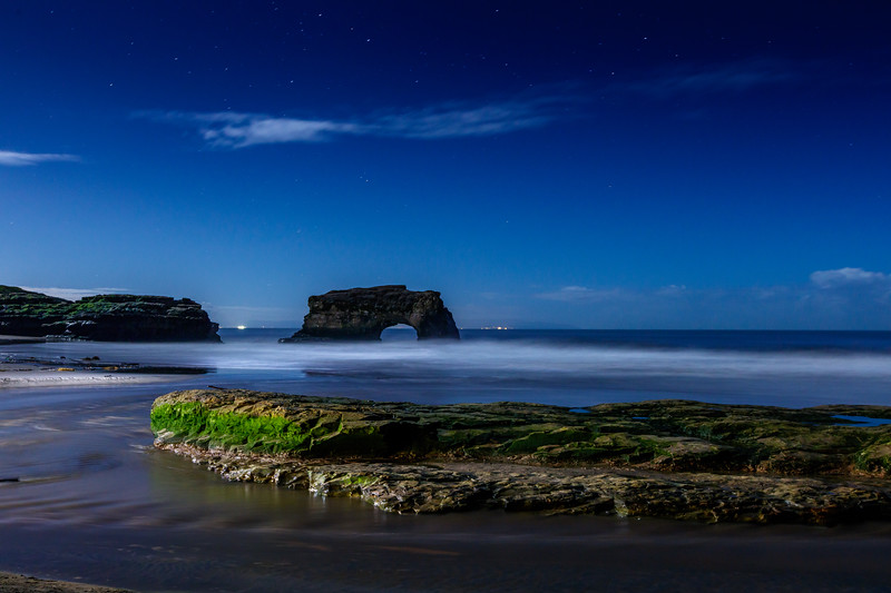 Bright Night at Natural Bridges Beach