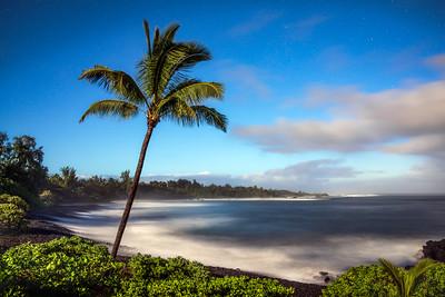 Hana Cove by Moonlight, Maui, Hawaii
