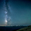 The Milky Way over the Hurricane Ridge Visitor Center in Olympic National Park, Olympic Peninsula, Washington State