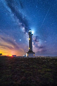 Point Arena Lighthouse & Perseid Meteor