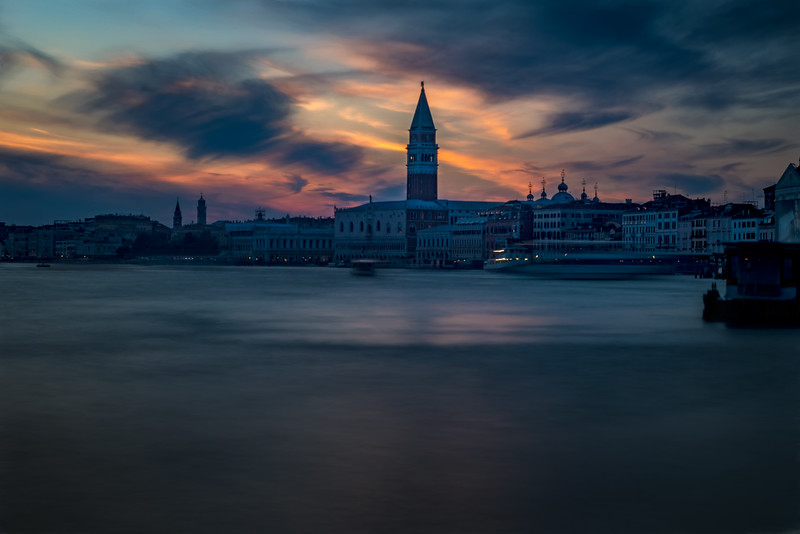 Sunset over the Venice Lagoon, Venice, Italy
