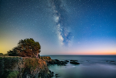 Stengel Cove & Milky Way, Sea Ranch, California