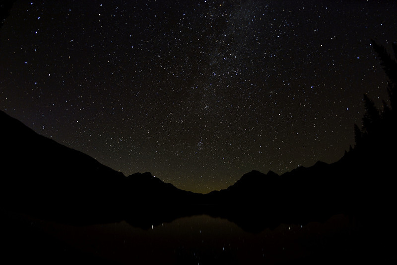 Stars Over Bowman Lake, Montana