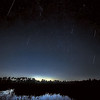 Geminid Meteor Shower, December 2020 over pond in Fred C. Babcock/Cecil M. Webb Wildlife Management Area near Punta Gorda, Florida