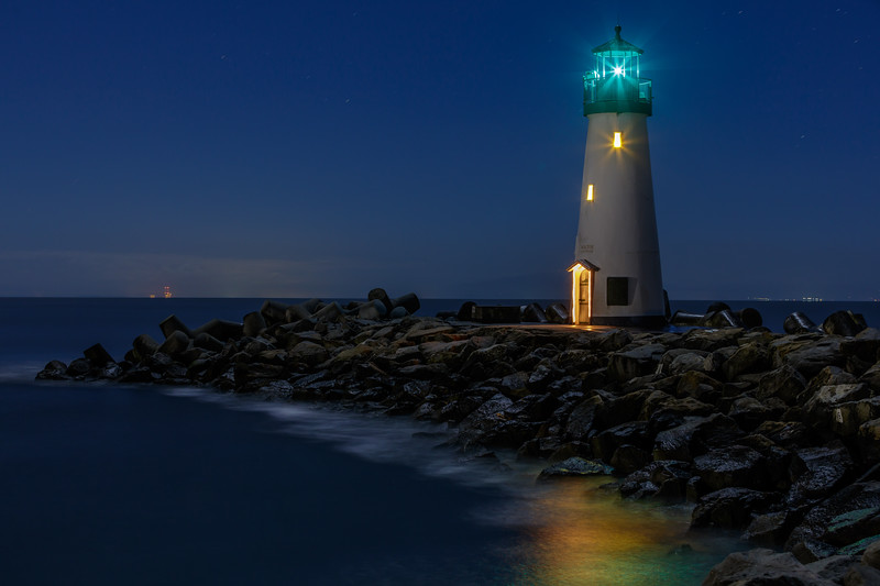 Walton Lighthouse Night Reflections 2
