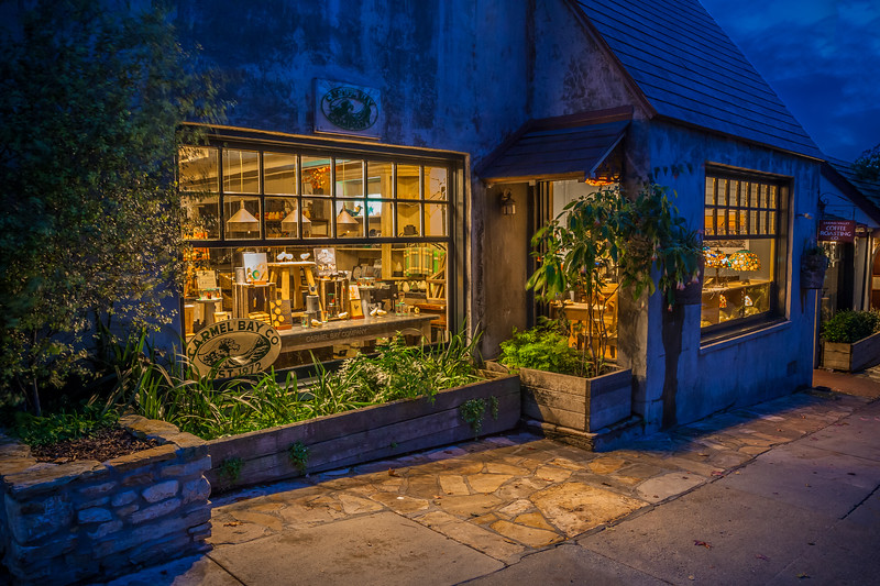 Carmel Storefront at Night 1
