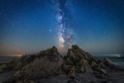 Salal Crags & Milky Way, Sea Ranch, California