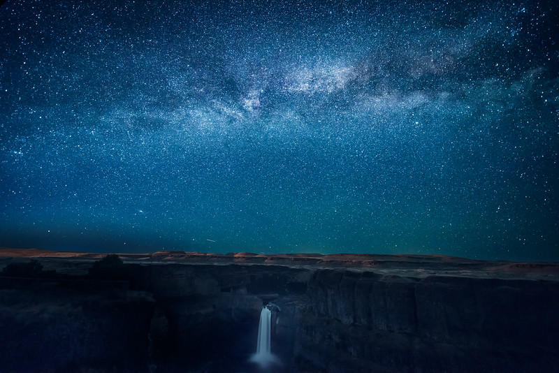 The Milky Way over Palouse Falls, Palouse Falls State Park, Washington State