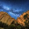 The Milky Way rising over La Ventana Arch at El Malpais National Monument near Grants, New Mexico