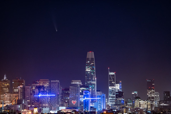 Comet NEOWISE over San Francisco
