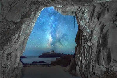 Sea Cave & Milky Way, Sea Ranch