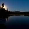 Moonrise over Engineer lake.