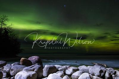 Northern Lights Over Cold Lake Provincial Park