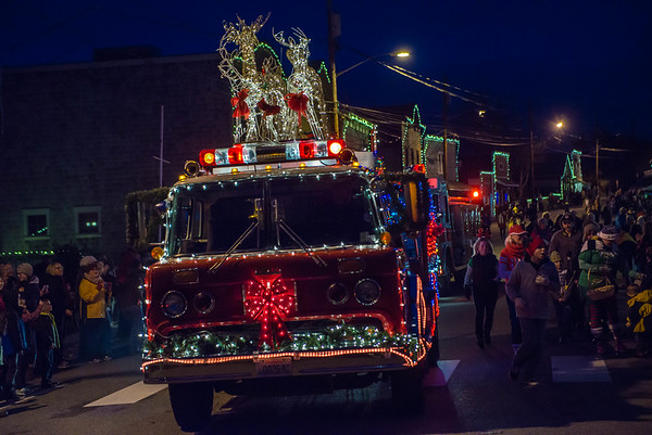 Spirited community Christmas celebration in downtown Coupeville