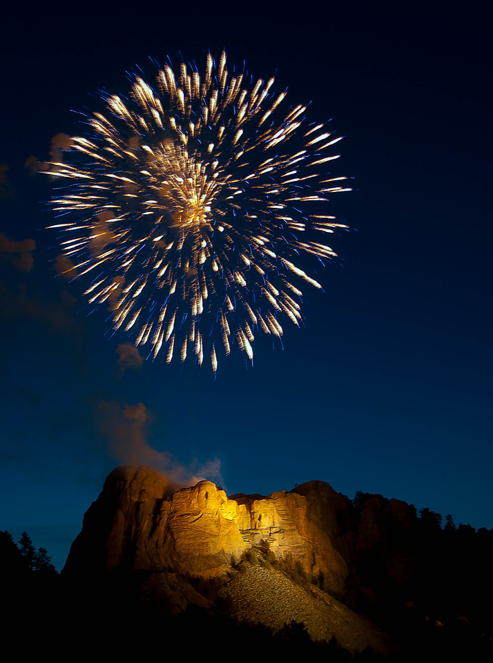Fireworks, Mt. Rushmore, South Dakota