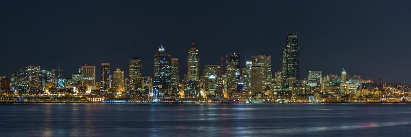 Downtown Seattle skyline March 2013 taken from West Seattle.