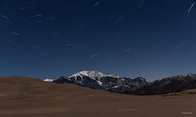Star trails with 52.7% moon illumination