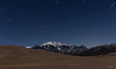 Star trails with 52.7% moon illumination