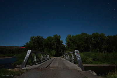 Full Moon Over The Conejos River