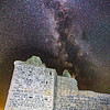 Milkyway over Noltland Castle, Isle of Westray, Orkney