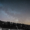 Milky way over Castle Combe early hours of 6/3/16