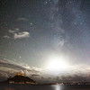 Milkyway & Moon combo at St Michael's Mount 4/11/16