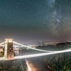 Clifton Suspension Bridge Milky way composite