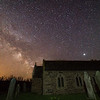 Milkyway over The Parish church of St Winwaloe 21/4/18