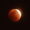 """Lunar Eclipse"".  Eclipse of the moon at 90% totality, 2/20/08."