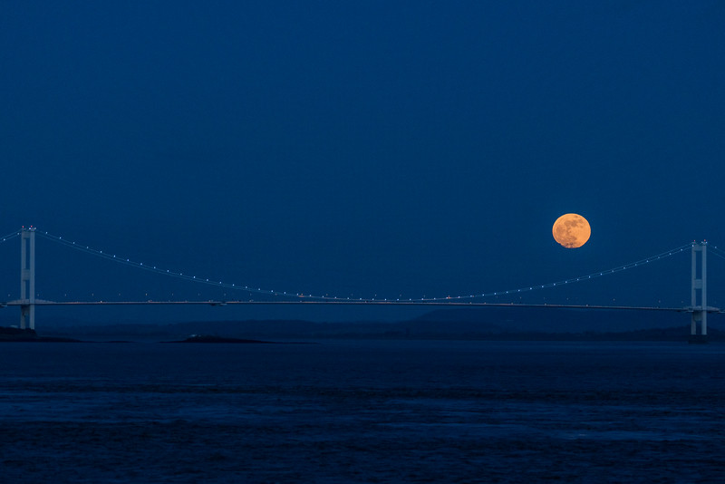 Severn Bridge moon rise 31/1/18