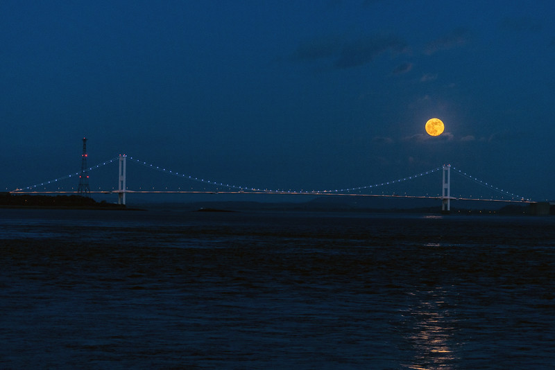 River Severn Super Moon rise 31/1/18