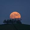Kelston roundhill moon rise 1/1/18