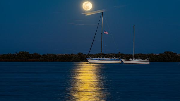 Full Moonrise over Salt Run in St Augustine