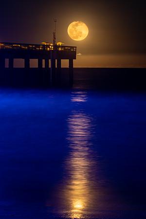 Moonrise St Augustine Beach Pier