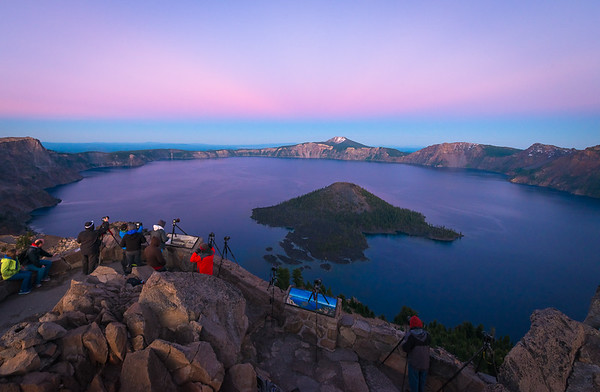 Out Shooting Sunset with a Group @ Crater Lake National Park