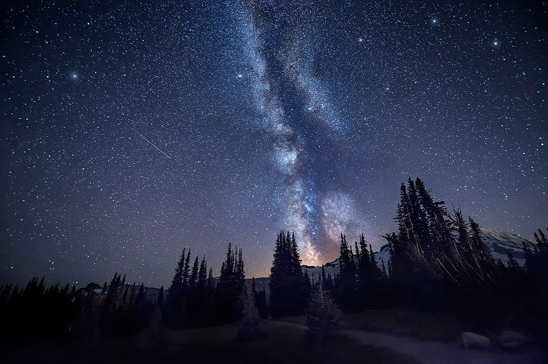 A Hike Under the Stars - Mount Rainier National Park, Washington
