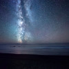The Milky Way Reflecting in the Pacific Ocean - Olympic National Park, Washington