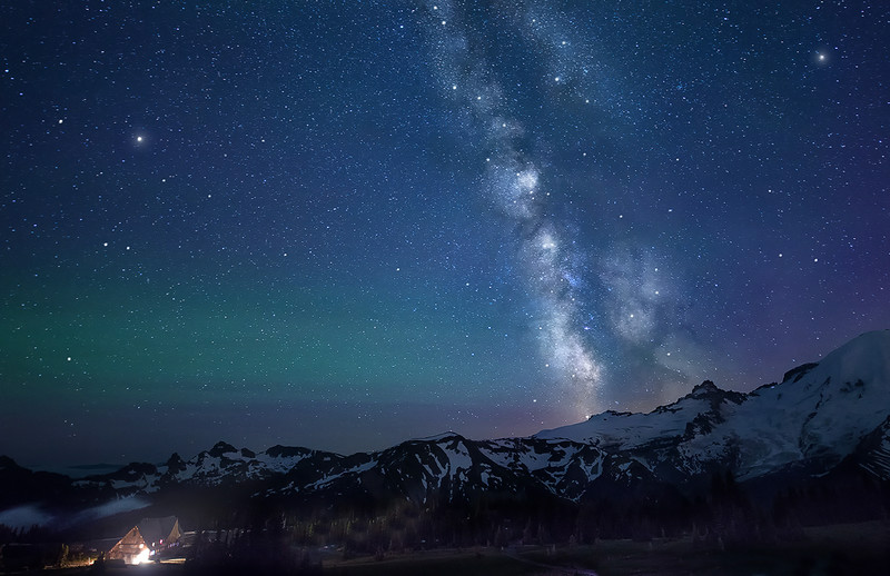 A Very Dark Night at 7,000 Feet - Mount Rainier National Park, Washington