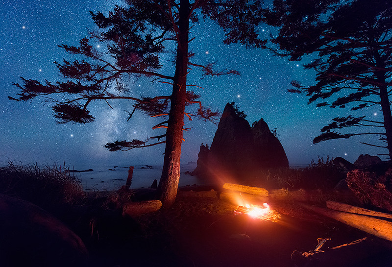 Camping Under the Milky Way - Olympic National Park, Washington